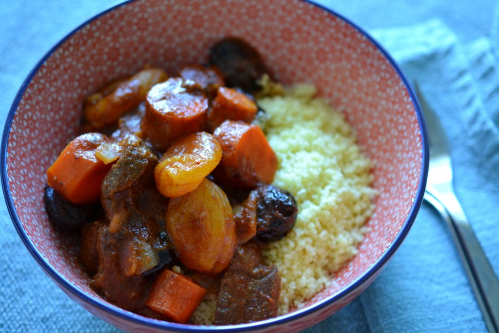 Camel tagine with dried fruit