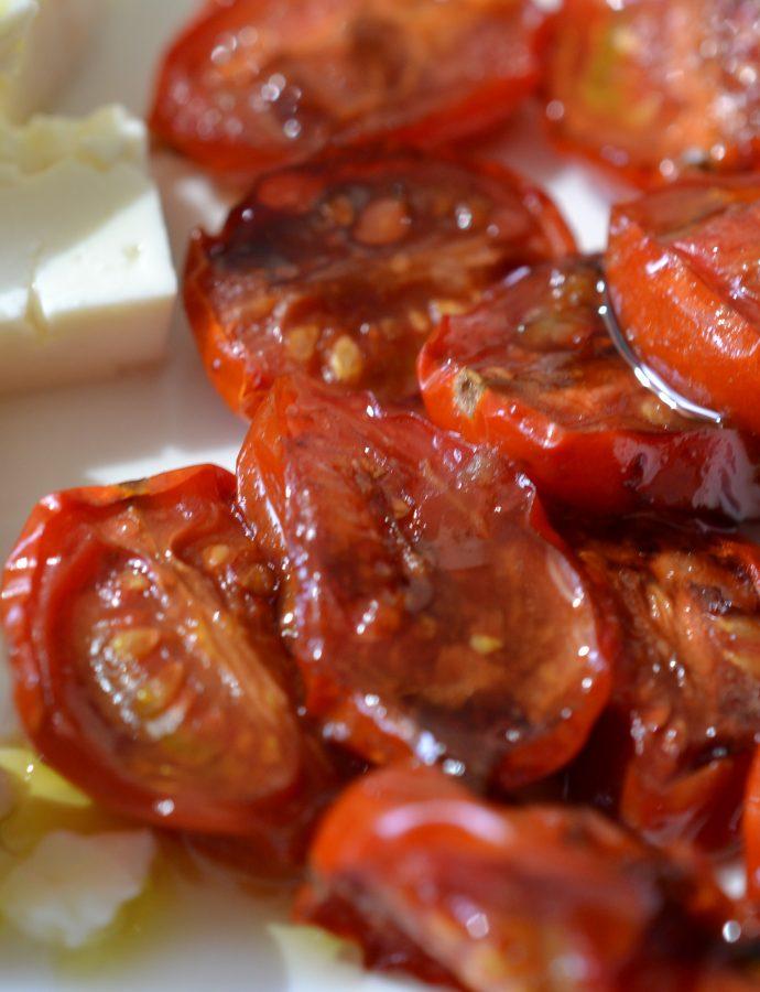 Roasted Tomatoes Feta Toast