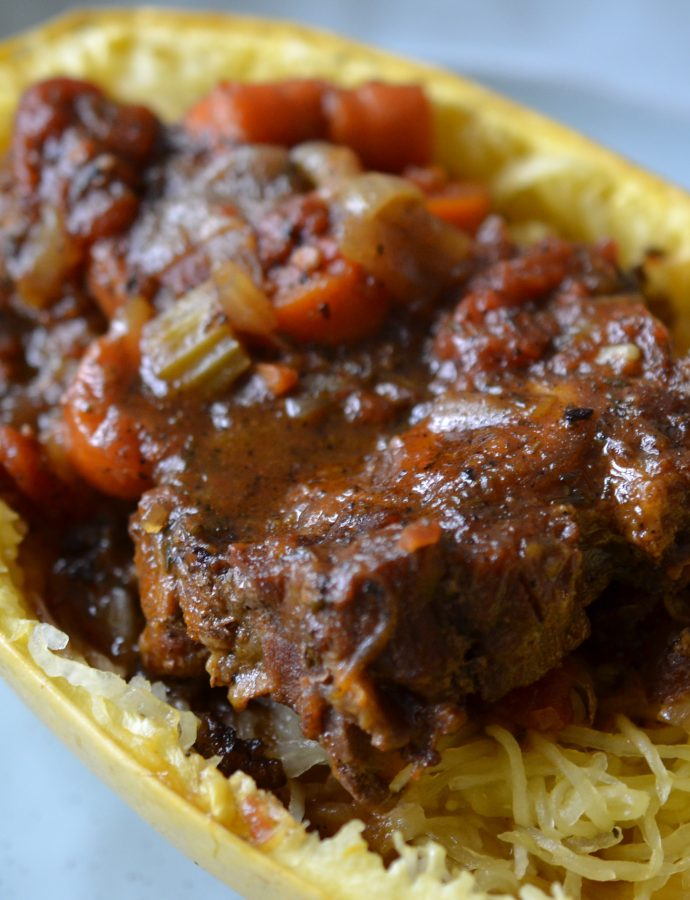 Oxtail Stew with Spaghetti Squash