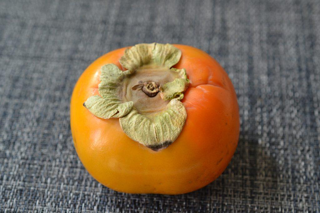 A ripe persimmon.